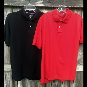 Izod Golf Polos (Two) Short Sleeve Pullovers Sz L